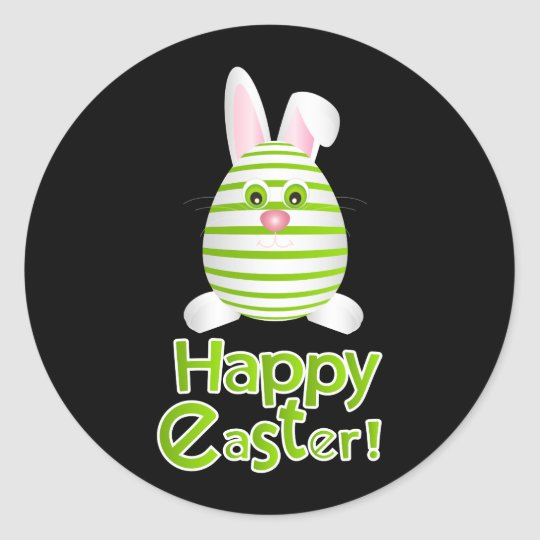 Happy Easter Bunny Egg Round Sticker