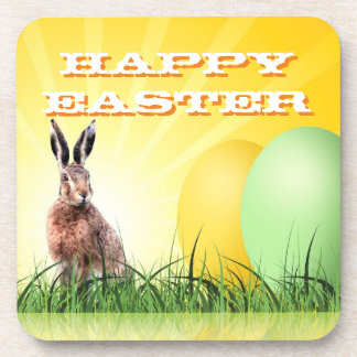 HAPPY EASTER - Bunny & Eggs Coaster