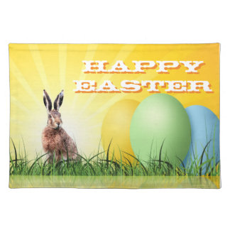 HAPPY EASTER - Bunny & Eggs Placemat