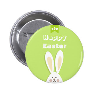 Happy Easter Bunny Greeting 2 Inch Round Button