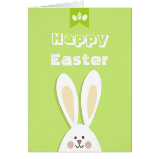 Happy Easter Bunny Greeting Greeting Card