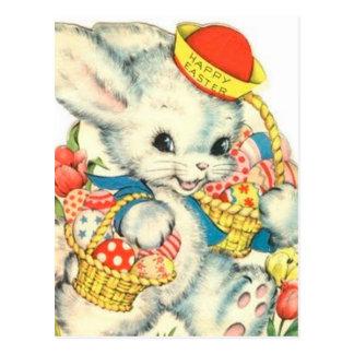 Happy Easter Bunny Holiday vintage Nostalgic Postcard