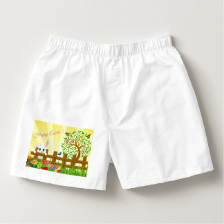 Happy Easter bunny illustration Boxers