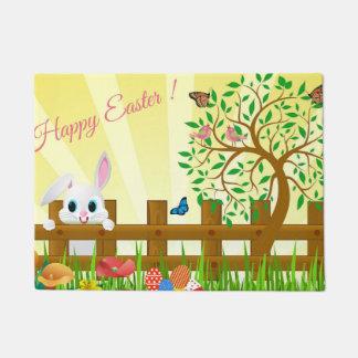 Happy Easter bunny illustration Doormat