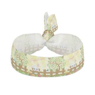 Happy Easter bunny illustration Elastic Hair Tie