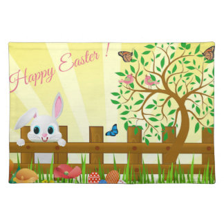 Happy Easter bunny illustration Placemat