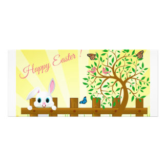 Happy Easter bunny illustration Rack Card