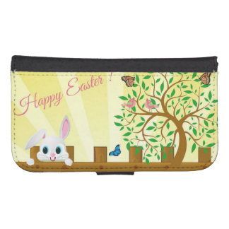 Happy Easter bunny illustration Samsung S4 Wallet Case