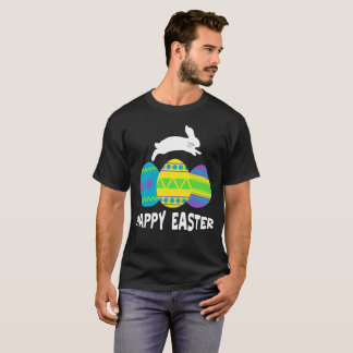 Happy Easter Bunny Jumping Easter Egg Tee