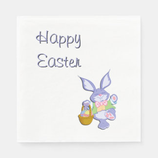 Happy Easter Bunny Paper Napkins