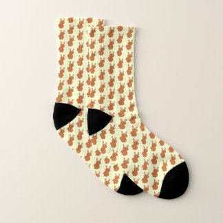 Happy Easter Bunny Patterned Socks 1