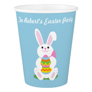 Happy Easter Bunny ~ Personalized Paper Cup