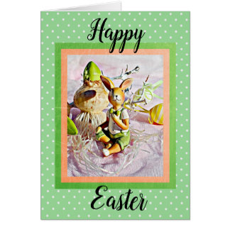 Happy Easter Bunny Rabbit card