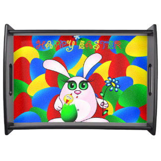 Happy Easter Bunny Serving Tray