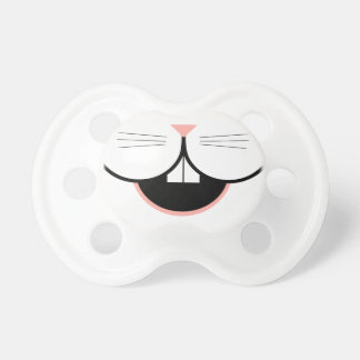 Happy Easter Bunny smile and nose baby pacifier