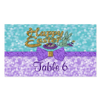 Happy Easter Bunny Table Business Card