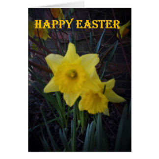 Happy Easter Card Daffodils By KABFA Designs