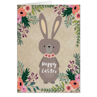 Happy Easter card easter bunny personalized