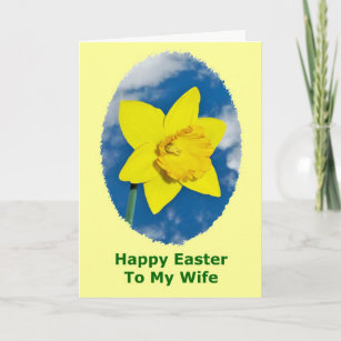 Happy easter to wife gifts on zazzle ca happy easter card for wife negle Image collections