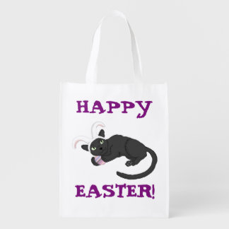 Happy Easter! Cat-berry Bunny Bag Grocery Bag