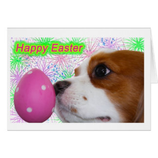 Happy Easter Cavalier King Charles Spaniels Card