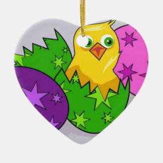 Happy Easter Ceramic Ornament