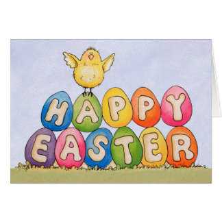Happy Easter Chick - Greeting Card