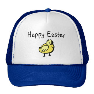 Happy Easter Chick Mesh Hats