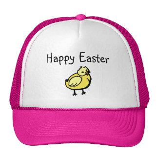 Happy Easter Chick Trucker Hats