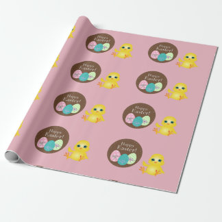 Happy Easter Chick Wrapping Paper