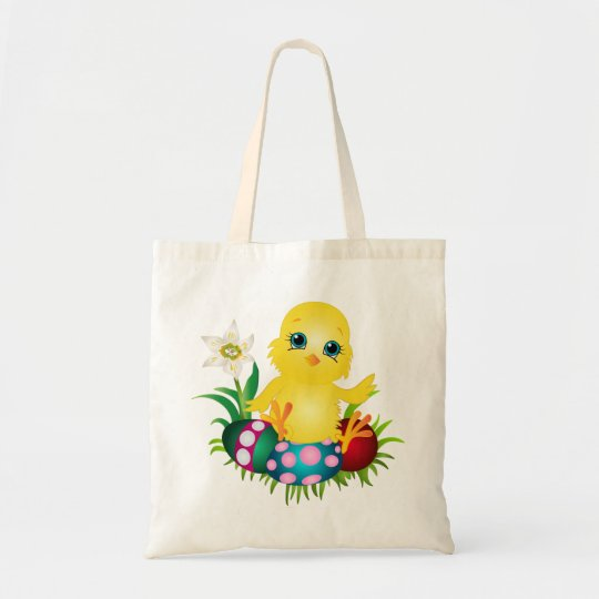 Happy Easter Chicken Tote Bag