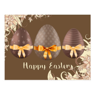 Happy Easter, Choco Easter Eggs Postcard