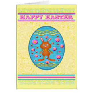 Happy Easter Chocolate Bunnies Greeting Greeting Card