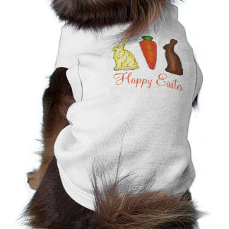 Happy Easter Chocolate Bunny Rabbit Carrot Pet Tee