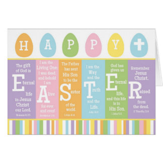 Happy Easter Christian Scripture Verse Card-BLANK Card