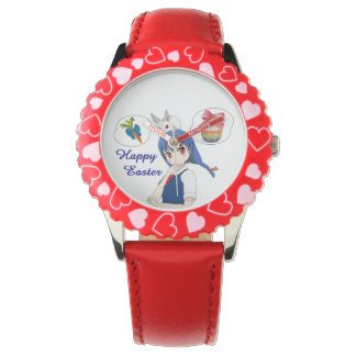 Happy Easter (costumizable) Wristwatch