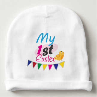 Happy Easter Cotton Baby Beanie