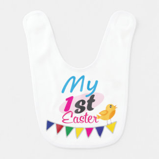 Happy Easter Cotton Baby Bib