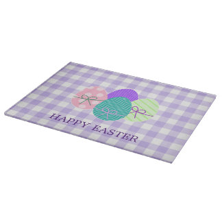 Happy Easter Country Lavender Gingham Pattern Boards