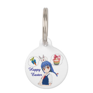 Happy Easter (Customizable) Pet ID Tag