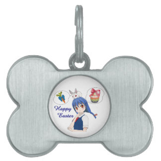 Happy Easter (Customizable) Pet Name Tag