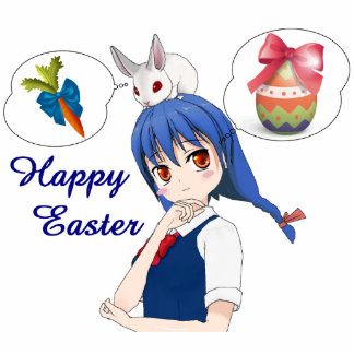 Happy Easter (Customizable) Photo Sculpture Button