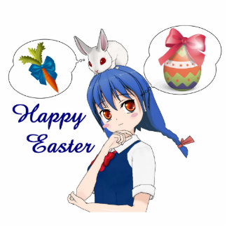 Happy Easter (Customizable) Photo Sculpture Keychain