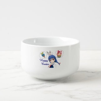 Happy Easter (Customizable) Soup Bowl With Handle