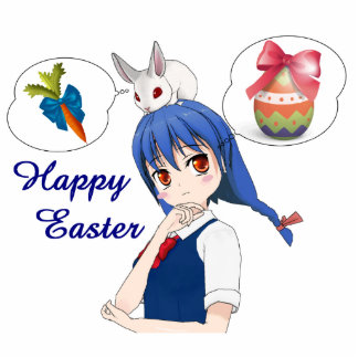 Happy Easter (Customizable) Standing Photo Sculpture