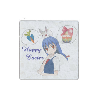Happy Easter (Customizable) Stone Magnets