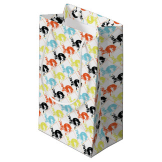 Happy Easter Cute Bunnies Gift Wrapping Small Gift Bag