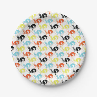 Happy Easter Cute Bunny Party Supply Paper Plate