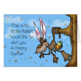 Happy Easter Cute little Monkey Card