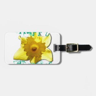 Happy Easter, Daffodil 01.2.T Bag Tag